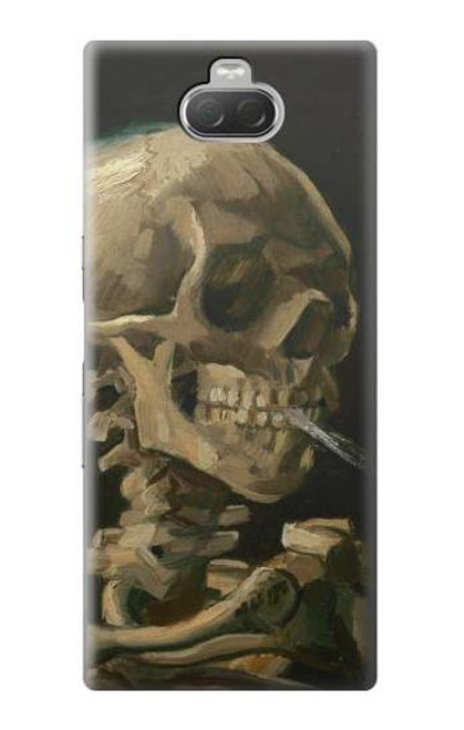 S3358 Vincent Van Gogh Skeleton Cigarette Case For Sony Xperia 10