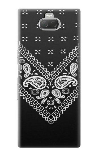 S3363 Bandana Black Pattern Case For Sony Xperia 10
