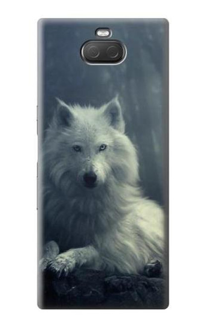 S1516 White Wolf Case For Sony Xperia 10 Plus