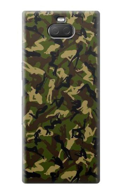 S3356 Sexy Girls Camo Camouflage Case For Sony Xperia 10 Plus