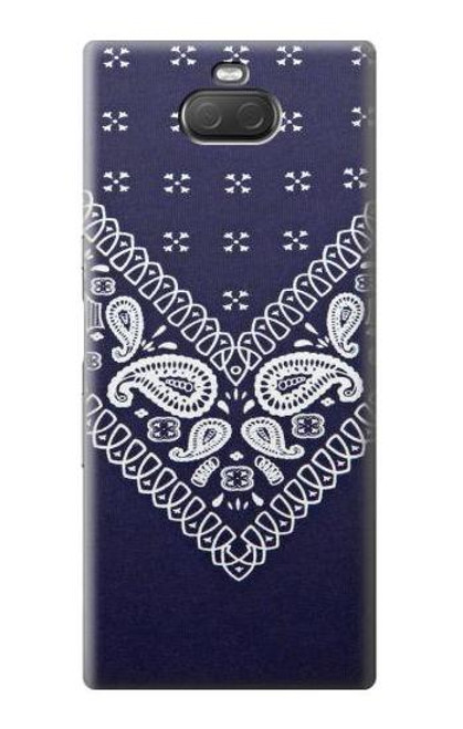 S3357 Navy Blue Bandana Pattern Case For Sony Xperia 10 Plus