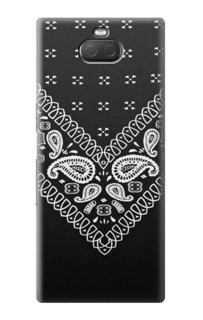S3363 Bandana Black Pattern Case For Sony Xperia 10 Plus