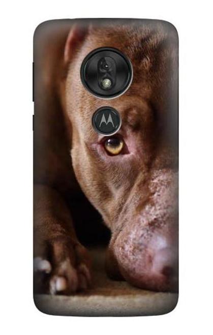 S0519 PitBull Face Case For Motorola Moto G7 Play