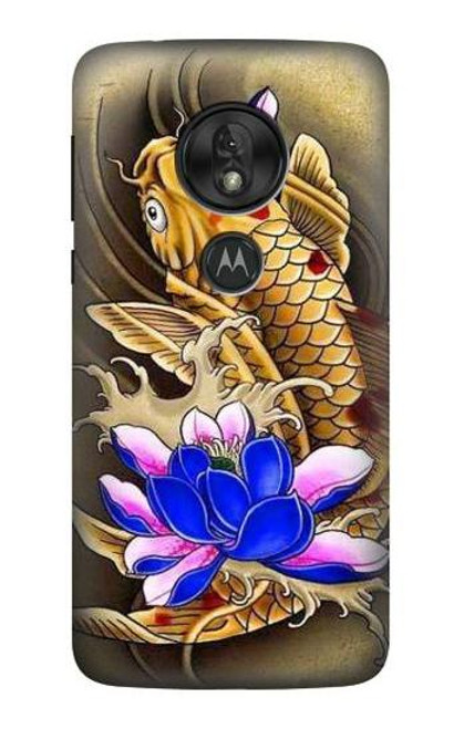 S1604 Carp Koi Fish Japanese Tattoo Case For Motorola Moto G7 Play