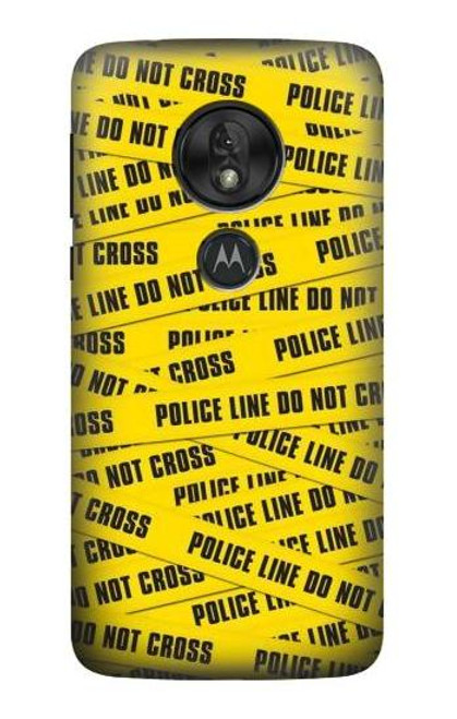 S2088 Police Line Do Not Cross Case For Motorola Moto G7 Play