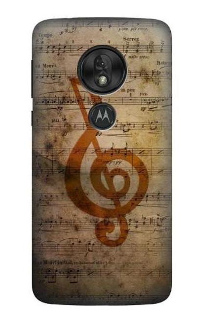 S2368 Sheet Music Notes Case For Motorola Moto G7 Play