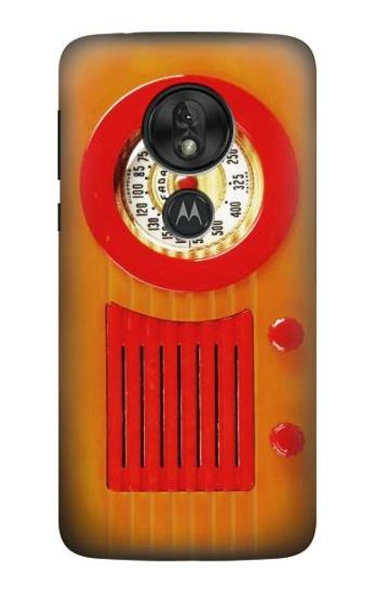 S2780 Vintage Orange Bakelite Radio Case For Motorola Moto G7 Play