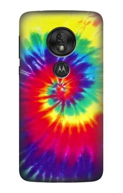 S2884 Tie Dye Swirl Color Case For Motorola Moto G7 Play