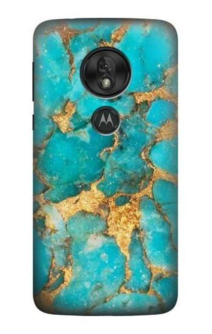 S2906 Aqua Turquoise Stone Case For Motorola Moto G7 Play