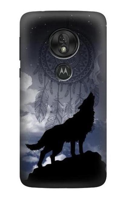 S3011 Dream Catcher Wolf Howling Case For Motorola Moto G7 Play