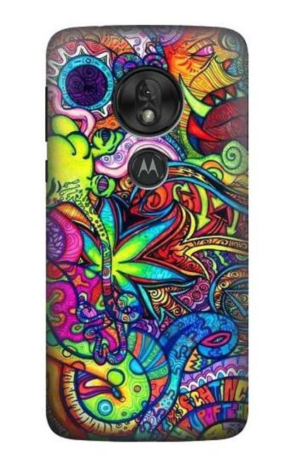S3255 Colorful Art Pattern Case For Motorola Moto G7 Play