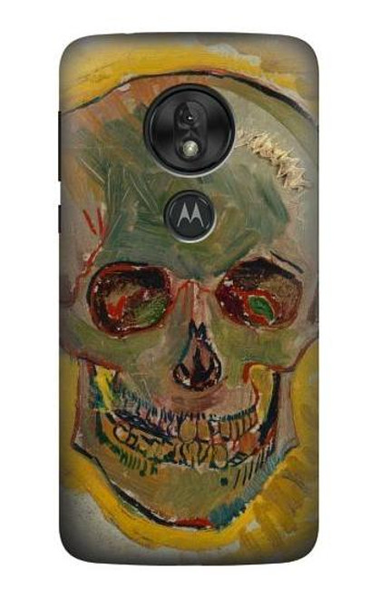 S3359 Vincent Van Gogh Skull Case For Motorola Moto G7 Play