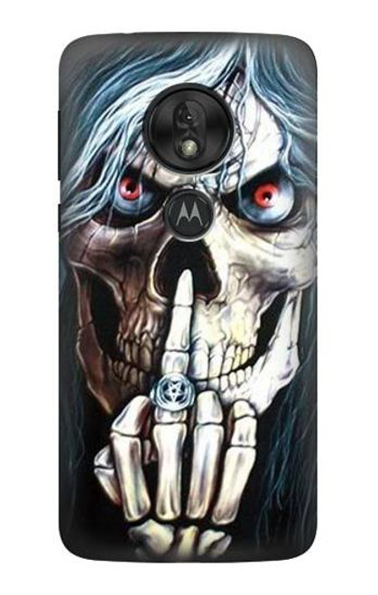S0222 Skull Pentagram Case For Motorola Moto G7 Power