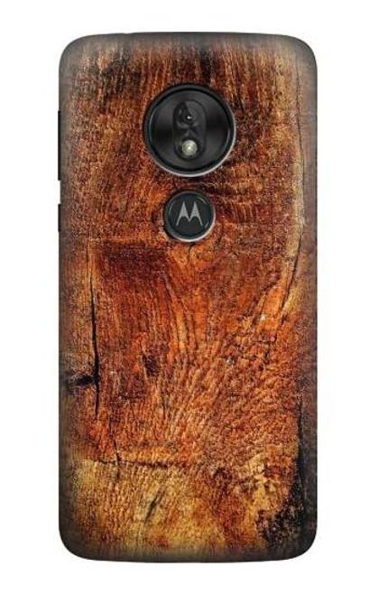 S1140 Wood Skin Graphic Case For Motorola Moto G7 Power
