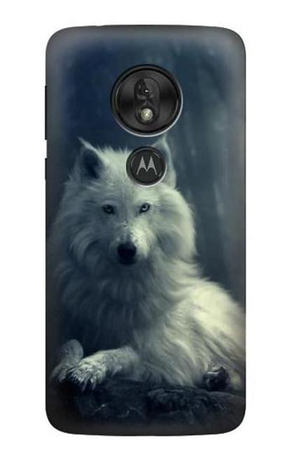 S1516 White Wolf Case For Motorola Moto G7 Power