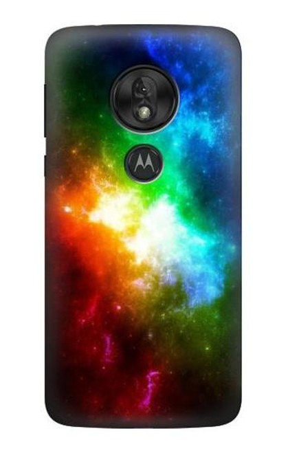 S2312 Colorful Rainbow Space Galaxy Case For Motorola Moto G7 Power