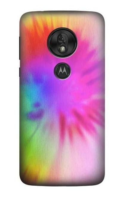 S2488 Tie Dye Color Case For Motorola Moto G7 Power