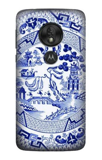 S2768 Willow Pattern Graphic Case For Motorola Moto G7 Power