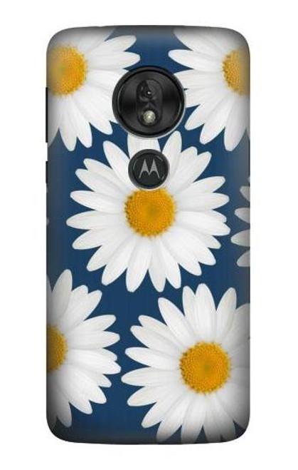 S3009 Daisy Blue Case For Motorola Moto G7 Power