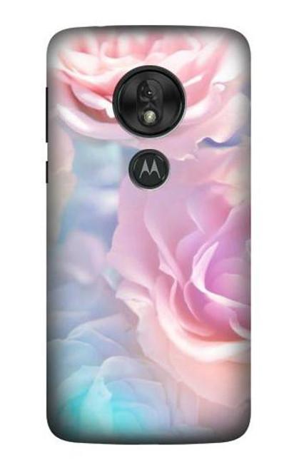 S3050 Vintage Pastel Flowers Case For Motorola Moto G7 Power