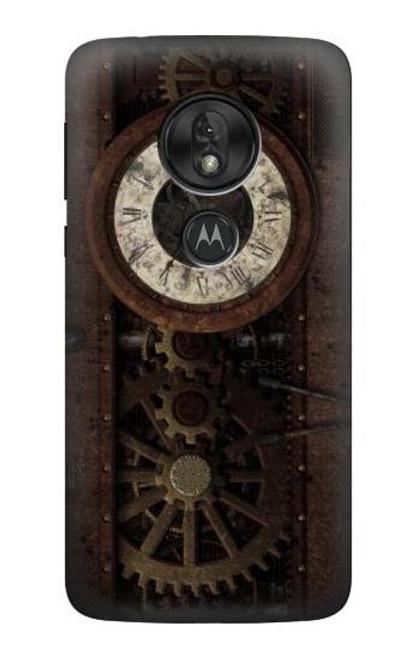 S3221 Steampunk Clock Gears Case For Motorola Moto G7 Power