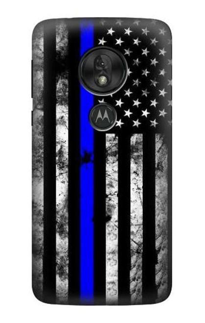 S3244 Thin Blue Line USA Case For Motorola Moto G7 Power
