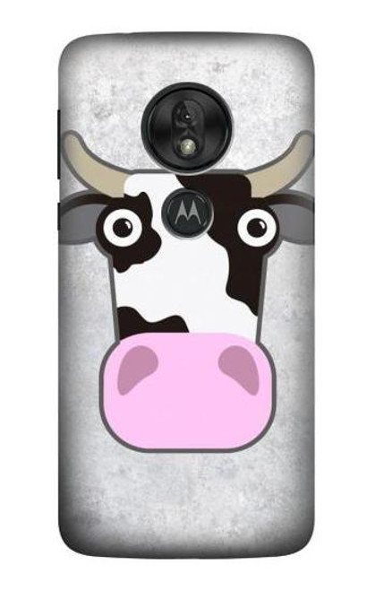 S3257 Cow Cartoon Case For Motorola Moto G7 Power