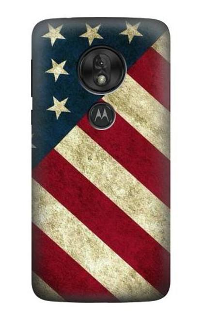 S3295 US National Flag Case For Motorola Moto G7 Power