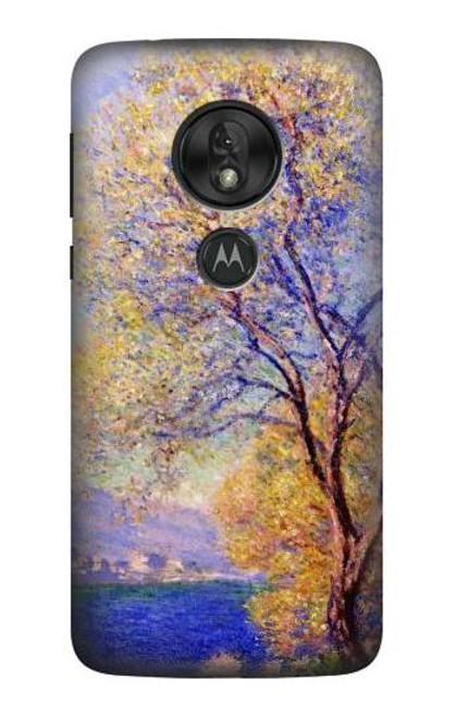 S3339 Claude Monet Antibes Seen from the Salis Gardens Case For Motorola Moto G7 Power