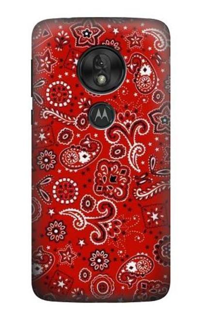 S3354 Red Classic Bandana Case For Motorola Moto G7 Power
