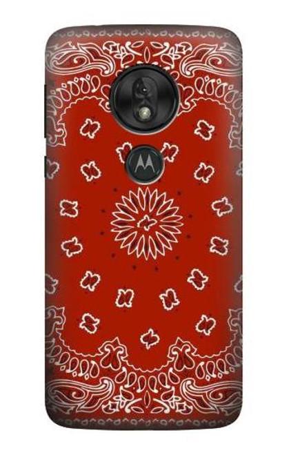 S3355 Bandana Red Pattern Case For Motorola Moto G7 Power