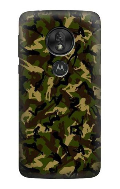 S3356 Sexy Girls Camo Camouflage Case For Motorola Moto G7 Power