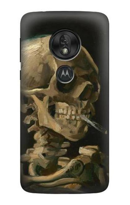 S3358 Vincent Van Gogh Skeleton Cigarette Case For Motorola Moto G7 Power