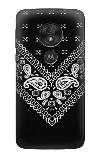 S3363 Bandana Black Pattern Case For Motorola Moto G7 Power