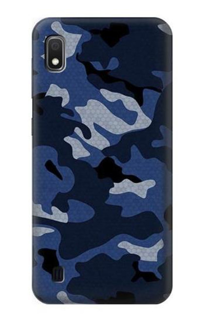 S2959 Navy Blue Camo Camouflage Case For Samsung Galaxy A10