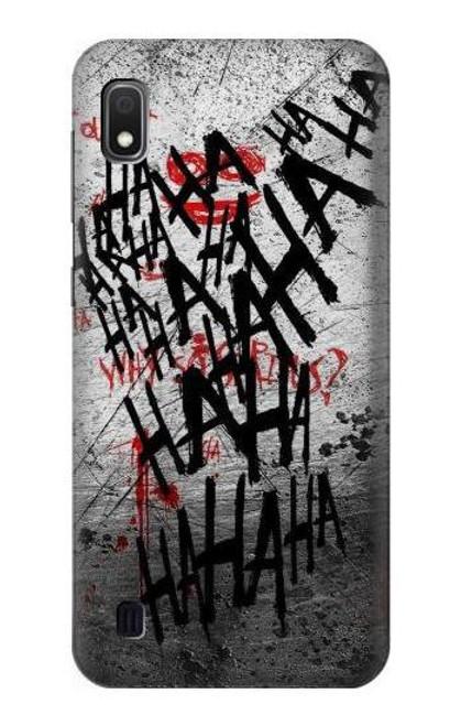 S3073 Joker Hahaha Blood Splash Case For Samsung Galaxy A10
