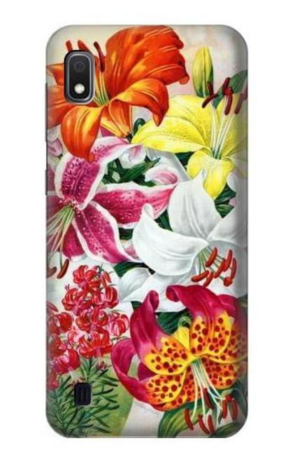 S3205 Retro Art Flowers Case For Samsung Galaxy A10