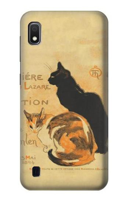 S3229 Vintage Cat Poster Case For Samsung Galaxy A10