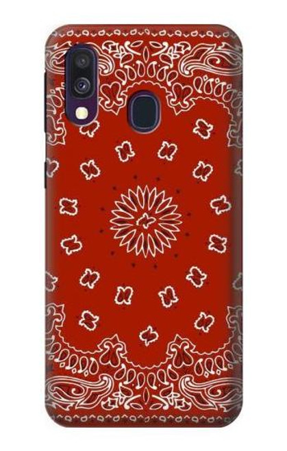 S3355 Bandana Red Pattern Case For Samsung Galaxy A40