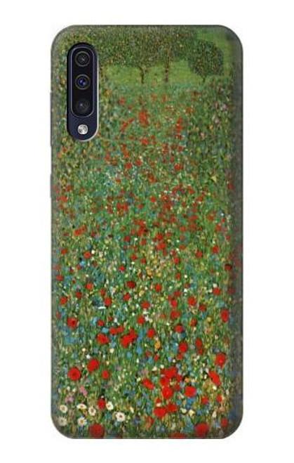 S2872 Gustav Klimt Poppy Field Case For Samsung Galaxy A50