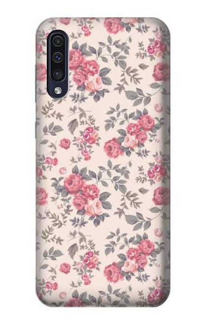 S3095 Vintage Rose Pattern Case For Samsung Galaxy A50