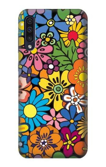 S3281 Colorful Hippie Flowers Pattern Case For Samsung Galaxy A50