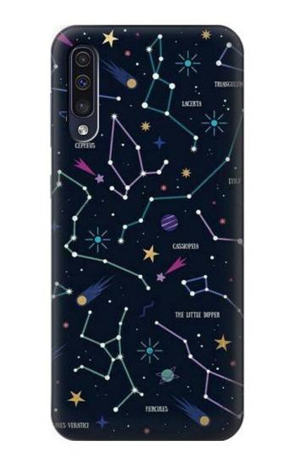 S3220 Star Map Zodiac Constellations Case For Samsung Galaxy A70