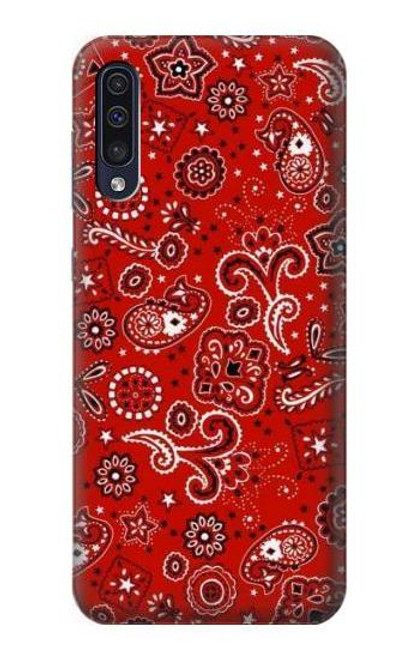 S3354 Red Classic Bandana Case For Samsung Galaxy A70