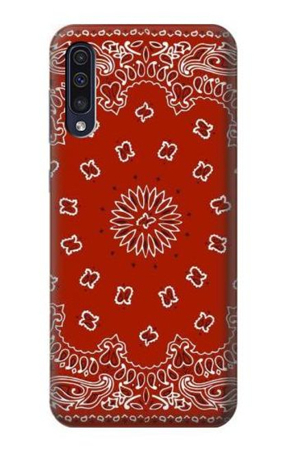 S3355 Bandana Red Pattern Case For Samsung Galaxy A70