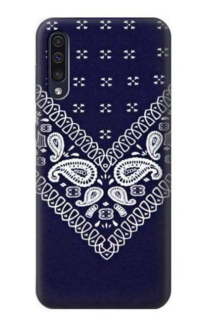 S3357 Navy Blue Bandana Pattern Case For Samsung Galaxy A70