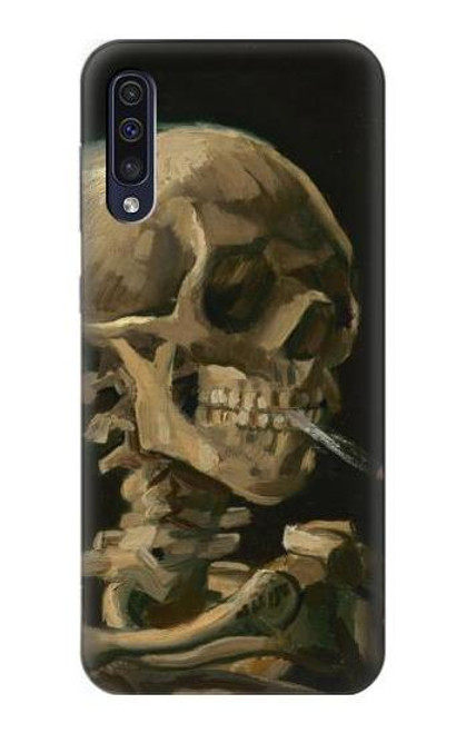 S3358 Vincent Van Gogh Skeleton Cigarette Case For Samsung Galaxy A70