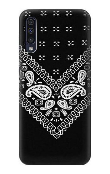 S3363 Bandana Black Pattern Case For Samsung Galaxy A70