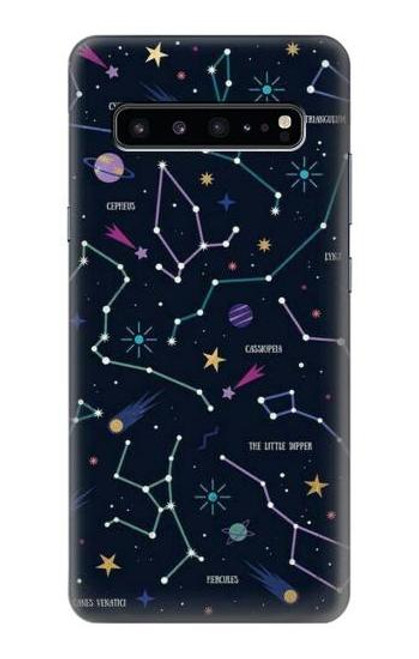 S3220 Star Map Zodiac Constellations Case For Samsung Galaxy S10 5G
