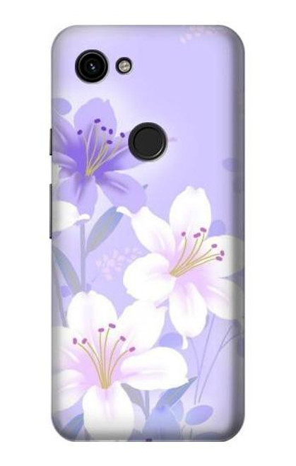 S2361 Purple White Flowers Case For Google Pixel 3a